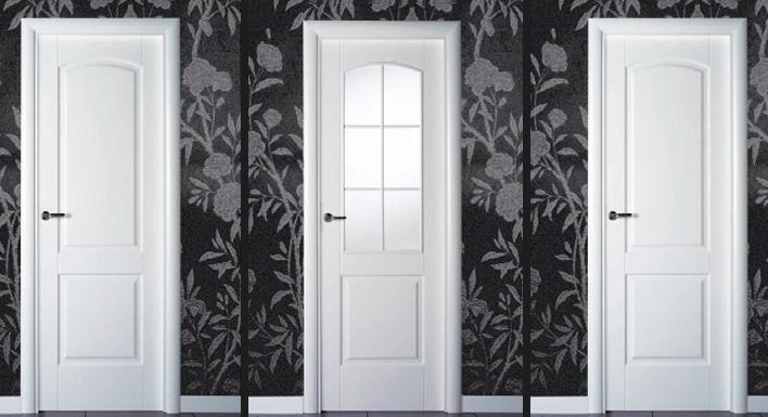 Puertas lacadas en blanco puertas y armarios benidorm for Precio de puertas blancas