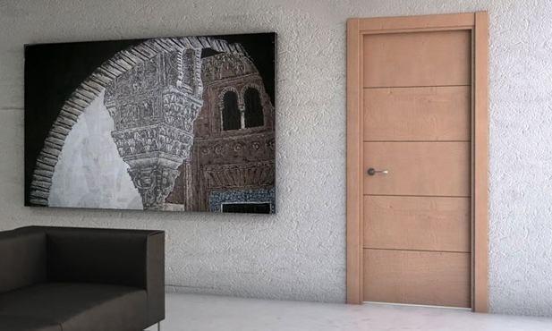 Puertas l nea moderna puertas y armarios benidorm for Puertas talladas modernas