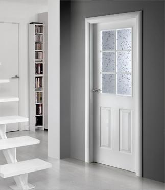Puertas lacadas en blanco puertas y armarios benidorm for Tipos de puertas de interior