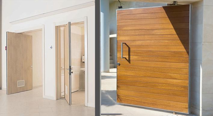 Puertas pivotantes puertas y armarios benidorm empresa for Puertas pivotantes madera